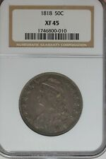 1818 50c   NGC XF45 -    1800's Capped Bust Half Dollar, Miss Liberty