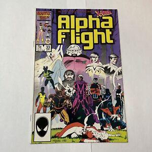 ALPHA FLIGHT #33 1st app of LADY DEATHSTRIKE (1986)