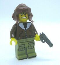 Lego Custom WW2 USA AVIATOR Pilot Minifigure Brickarms 1911 Army Military