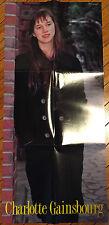 CHARLOTTE GAINSBOURG GLORIA YIP JAPAN ROADSHOW MAGAZINE 1990 BONUS POSTER