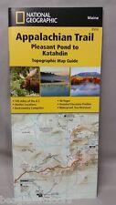 National Geographic TI Appalachian Trail ME Pleasant Pond to Katahdin Map 1513