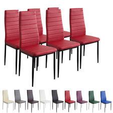 6 x Esszimmerstühle MILANO - rot - Esszimmerstuhl Küchenstuhl Stuhl Stühle