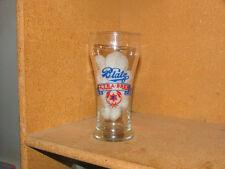 Rare BLATZ EXTRA BREW Enamel Bulge Top Sham Beer Glass 1940's Milwauke Wisconsin