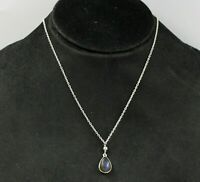 Solid 925 Sterling Silver Labradorite Gemstone Anniversary Womens Gift Necklace