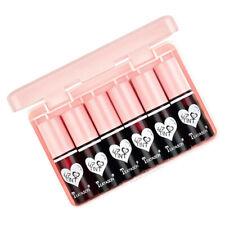 6 Pack Moisturizing Lip Gloss Waterproof Mirror Effect Lip Tint w/ Storage Case