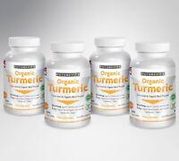 Turmeric Curcumin Organic 4 x 240 Capsules 10000mg High Strength Black Pepper UK