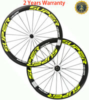 50mm Carbon Wheels 23mm Width Powerway R13 Hub Carbon Wheelset Road Bike 700C