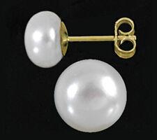 ECHT GOLD *** Perlen Ohrstecker SW Zuchtperle 8,5 mm