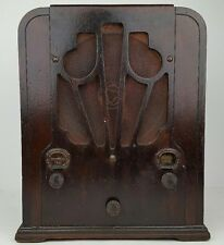 Antique Atwater Kent Wood Tombstone Tube Radio Model 184 Parts & Repair Untested
