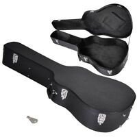 Acoustic Dreadnought Guitar Hard Case Wooden Hard Shell Carrying Case Lockable