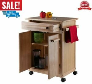 carro de almacenamiento de gabinetes con ruedas cocina con cajones madera regalo