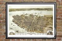 Vintage Charleston, SC Map 1872 - Historic South Carolina Art - Old Industrial