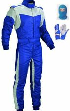 BLUE Go Kart Race Suit Pack with and free gloves balaclava