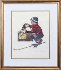 """Norman Rockwell - """"A Boy Meets His Dog""""  L/E 700"""