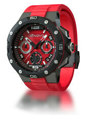 DeNovo DN2020-84RNR Mens Red Swiss Made Watch Chrono Italian Design Red Dial