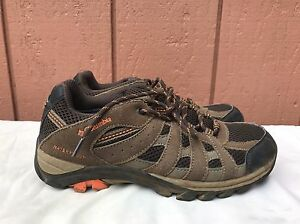 COLUMBIA Waterproof Hiking Leather Low Ankle Boots Trail Sneaker US Men 6 W 7.5