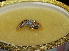 18k Yellow Gold Solitare Wedding Ring w/ approx. .50 cwt Diamonds- 6.0 grams