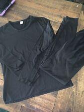 Gold Medal Ladies size Large Black long sleeve base layer shirt & pants