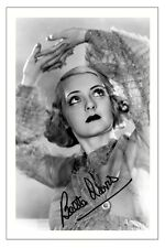 BETTE DAVIS VINTAGE MOVIE ACTRESS SIGNED PHOTO PRINT AUTOGRAPH