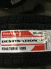 2 New P 245 75 16  Firestone Destination LE2 Tires