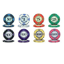 NEW 300 PC Scroll Ceramic 10 Gram Poker Chips Bulk Lot Select Your Denominations