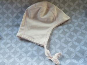 NEW Hanna Andersson Size S (0+ Mos) Baby Pilot Cap PINK Organic Cotton Hat nwot