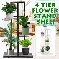 4 Tier Iron Craft Plant Flower Stand Candle Holder Flower Pot Shelf Rack Garden