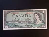 ➡➡ 1954 BC-37-b-i REPLACEMENT Portrait $1 Note Bank of Canada SN I/M 8190833 Unc