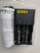 Authentic Nitecore i2 Dual Universal Battery Charger / 18650 16340 26650 etc