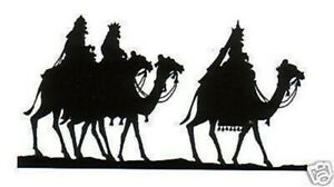 Christmas - Silhouette - Three Wise Men Unmounted Clear Stamp Approx 65x35mm