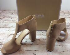 Michael Michael Kors Shoes 11 Sabrina Open Toe Pump Bootie Suede Dark Khaki New