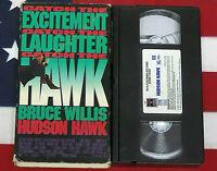Hudson Hawk (VHS, 1991, Closed Captioned) Bruce Willis, Cult Comedy Classic
