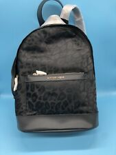 NAT Michael Kors Kelsey Medium Leopard Nylon Backpack