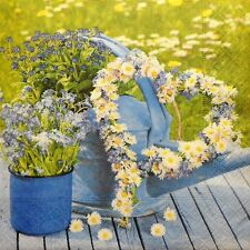 4 X Solo Papel Servilletas Flores de primavera Corazón Decoupage Y Artesanía 96