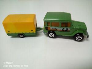 Majorette Toyota + remolque