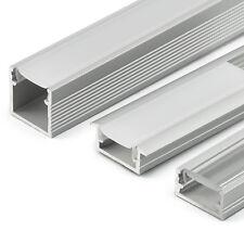 2m Profil LED satiniert transparent Abdeckung LED-Streifen Leucht Aluminium ALU