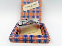 Nice Collectible Silver Match Gas Lighter With Box Made In France
