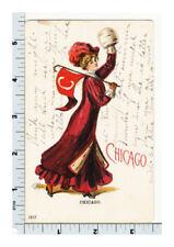 Christy Woman Postcard - Ullman Chicago University - 1517 UDB
