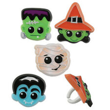 24 Halloween Cute Character Cupcake Rings Cake Toppers Decorations