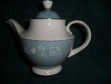 Royal Doulton Tea Pot Reflection tc 1008 fine china dinnerware blue white leaf