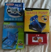 Bundle boys Xmas stocking fillers/gifts:Battleships/meccano/water pump/turds NEW