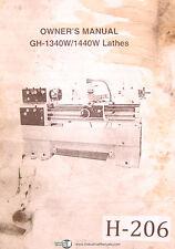 Birmingham Acra Gh 1340w Amp 1440w Lathes Owners Manual