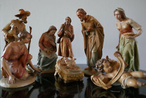 ANRI Prof. KUOLT Krippenfiguren Holz 25 cm Woodcarvings 10 inch