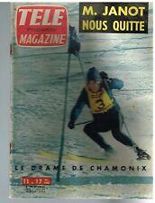 B7- Télé Magazine N°329 Ski Drame de Chamonix,Gisèle pascal