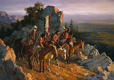 Howard Terpning GOLD SEEKERS TO BLACK HILLS, Native American, Sioux, art print