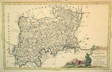 1779 Genuine Antique Hand Colored Map Middlesex Co, England. Cartouche. Zatta