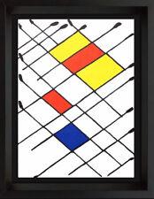 Alexander Calder Original Farbe Lithographie 1966 Limitierte Auflage + Rahmen