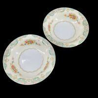 """Vintage Pair JYOTO """"Fairmont"""" Fine China 5 1/2"""" Dessert Fruit Berry Bowls Japan"""