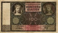 05 Netherlands / Niederlande P51a 100 Gulden 1932