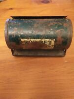 Antique Vintage Bob-Bet Bait box can tin lockable worm holder